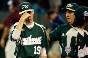Frustrated baseball player