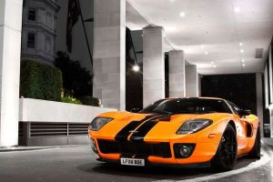 Black and Orange Sports Car